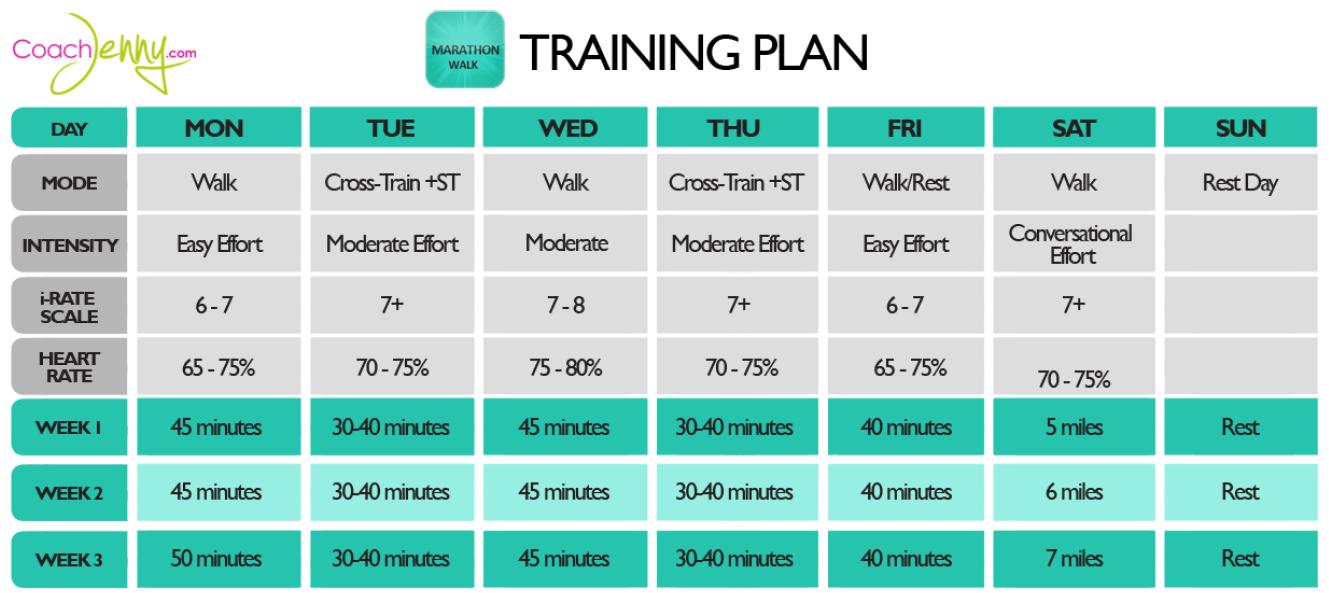 marathon training plans | 16 week marathon training schedule